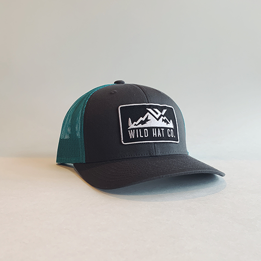 Curved Bill Baseball Hat - wild hat company logo