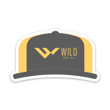 wild hat company hat sticker