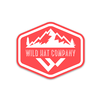 red mountain sticker from wild hat company
