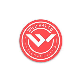 red round mountain sticker | wild hat company