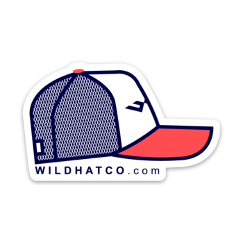 wild hat company usa hat sticker